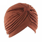 Women Stretch Turban Head Wrap Chemo Bandana Hijab Floral Pleated Indian Cap Hat