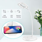 Qi Wireless Charger light Desk Lamp LED for iPhone X/8, Galaxy S8(White)
