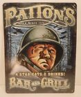 Patton's Bar And Grill 4 Star Eats & Drinks Metal Sign Collectible Metal Sign