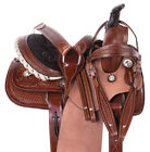 Barrel Saddle 13 12 Classic Children's Trail Western Youth Leather Horse Tack