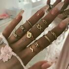 UK Fashion Women Bohemian Vintage Silver/Gold Midi Finger Knuckle Rings Set Gift