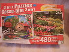 2 in 1 Puzzles, box contains 2 puzzles that are 240 pieces each mixed together