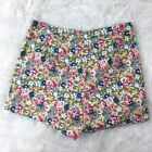 Kimchi Blue Urban Outfitter Women's Floral Bright Green High Waist Shorts Size 4