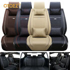 Universal Deluxe 5-Seats Car Seat Cover Front PU Leather +Rear Cushion W/Pillow $75.96 USD on eBay