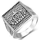 Mens Stainless Steel Silver Gold Rings Gothic Punk Biker Finger Ring Bands Lot