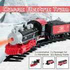 Classic Electric Train Passenger Kids Toy Real Railway Track Smoke Sounds Gift