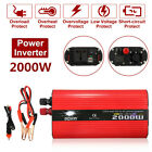 2000W Car Power Inverter DC 12/24V to AC 110/220V Modified Sine Wave Converter