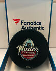 2017 NHL Winter Classic Game Used Chicago Blackhwaks Practice Puck 1/1/17
