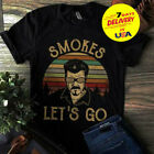 Trailer Park Boys Smokes Let's Go Vintage T-Shirt Black Cotton Full Size image