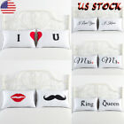 1Pair Couple Lover Pillow Case Bed Sofa Cushion Cover Wedding Valentine's Day US