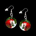 MACAW 31061 button earrings necklace ponytail zipper pulls bird macao jewelry