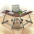 L Shaped Gaming Desk Table Corner Workstation Home Office Computer Pc Laptop