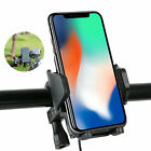 Motorcycle Handlebar Mount Holder w/ USB Charger For Cell Phone Samsung iPhone