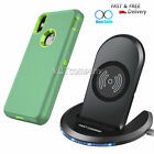 For iPhone X XR Xs Max 8/8 Plue Case Cover +Wireless Charger Charging Stand Dock