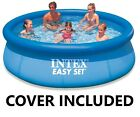 INTEX Inflatable Swimming Pool 8ft Easy Set Blue Outdoor Garden Family Cover Inc