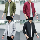 Fashion Korean Men Blazer Casual Jacket Baseball Uniform Coat Zipper Outwear New