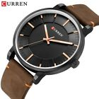 CURREN Mens Luxury Leather Casual Watches Analog Quartz Wristwatch 8332 image
