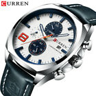 CURREN Mens Charm Leather Casual Watches Quartz Date Chronograph Wristwatch 8324 image