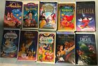 Disney VHS tapes Cinderalla Aladdin Beauty & the Beast Fantasia Snow White more