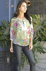 Sheer Chiffon Floral Blouse Runs Large for Summer Spring Size Choice