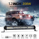 Autofeel NEW 10inch 208W LED Light Bar Work Combo Offroad Driving SUV Truck 4WD
