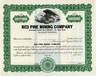 Red Pine Mining Company  of Delaware 19xx unissued Stock Certificate