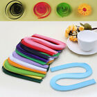 Handmade 120 Stripes 5mm Width Quilling Origami Paper Pure Colour DIY Tool Sanwo