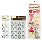 ENGAGEMENT RING I do Diamond Wedding Rings Recollections Stickers Scrapbook PICK