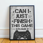 Gaming Boys Bedroom Prints / Games Room Wall Art / Gamer Gifts / Gaming Poster