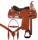 16 Western Leather Saddle Trail Ranch Cowboy Premium Horse Tack Set 15 17 18