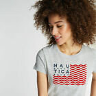 Nautica Womens Classic Fit T-Shirt In Flag Graphic