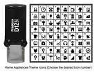Printtoo CustomHome Appliances Icons Rubber Self Inking Stamp-PR12-HA1-BLACK photo