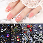 3D Nail Art Decoration Geometric Moon Shape Rivet Studs Nail Rhinestones Design