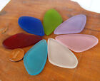 PICK COLOR 2pcs 52mm sun dial wing Pendant Sea Glass frosted Bead recycled