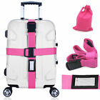Heavy Duty Adjustable Luggage Strap Long Cross Travel Suitcase Packing Belt