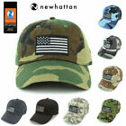 Newhattan Embroidered USA flag baseball cap 100% cotton Black Flag