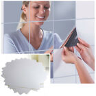 9/16pcs Mirror Tile Wall Sticker Square Self Adhesive Decor Stick Home Useful