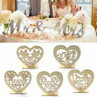 Wooden Heart Romantic LED Candle Light Wedding Decor Freestanding Sign Ornaments