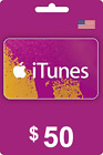 50$ iTunes US Gift Cards
