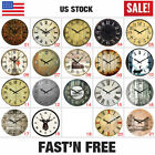 Wooden Rustic Wall Clock 38cm Diameter 15 Shabby Chic Kitchen Living Room Home