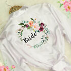 Bride Floral Satin Wedding Party Robe Bridesmaid Mother Dressing Gown
