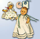 E1950s Vintage Simplicity Sewing Pattern 4507 Baby Layette w Christening Dress