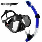 Professional scuba diving mask and snorkel set tempered lens Gopro camera diving