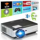 Bluetooth Android LED Projector LCD Display Home Theater HDMI USB Support 1080P