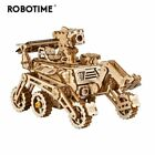 Robotime Wooden Solar Energy Powered 3D Moveable Space Hunting DIY Model