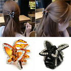 Women's Butterfly Crystal Rhinestone Claw Hairpin Hair Clip Clamp Accessory Fh