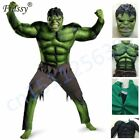 Avengers Hulk Costume For Kids Halloween Carnival Party Cosplay Boys Clothing