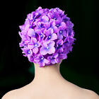 Women Diving Flower Unique Swimming Cap Long Hair Handmade Solid Water Sports