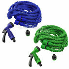 Expandable Flexible 20-50-75-100FT Magic Water Hose Pipe with Spray Nozzle LOT