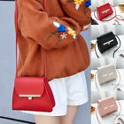 Women Simple Flap Shoulder PU Leather Bag Pure Color Mini Messenger Chest Bag